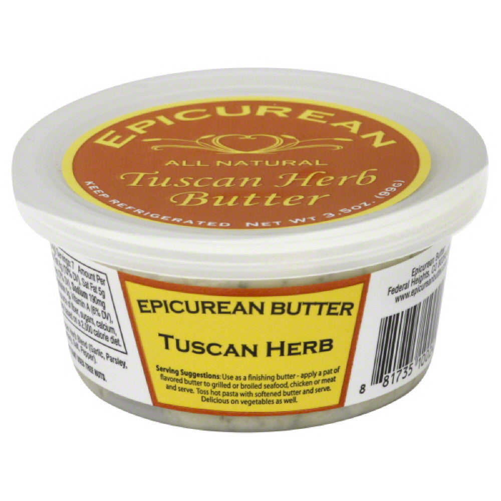 Epicurean Butter Tuscan Herb Butter, 3.5 Oz (Pack of 8)