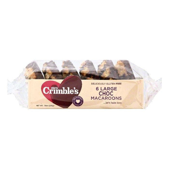 Mrs Crimbles Large Choc Macaroons, 6 ea (Pack of 12)