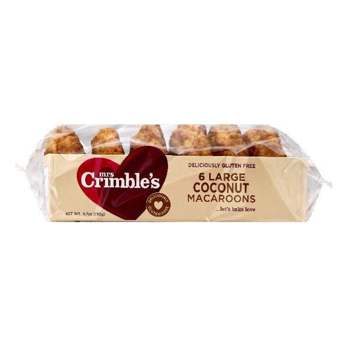 Mrs Crimbles Large Coconut Macaroons, 6 ea (Pack of 12)