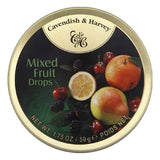 Cavendish & Harvey Mixed Fruit Drops Candies, 1.75 Oz (Pack of 7)
