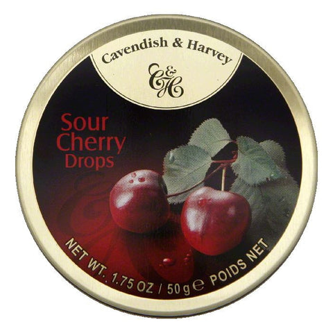 Cavendish & Harvey Cherry Drop Candies, 1.75 Oz (Pack of 7)