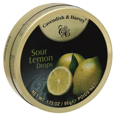 Cavendish & Harvey Sour Lemon Drops Candies, 1.75 Oz (Pack of 7)