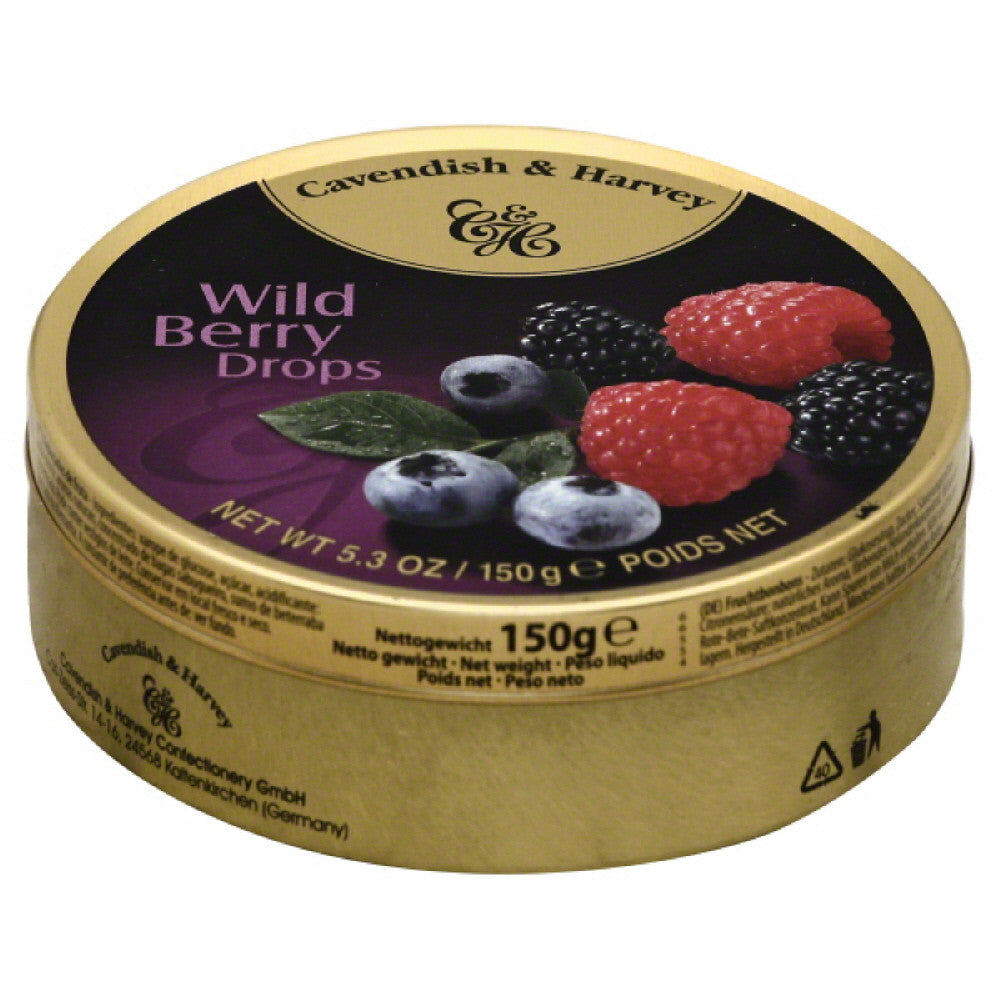 Cavendish & Harvey Drops Wild Berry, 5.3 Oz (Pack of 12)