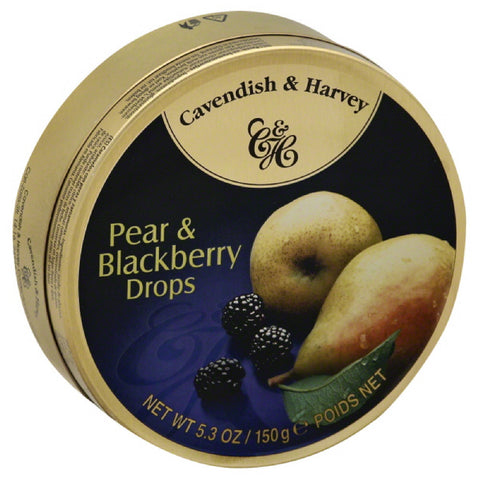 Cavendish & Harvey Pear & Blackberry Drops, 5.3 Oz (Pack of 12)