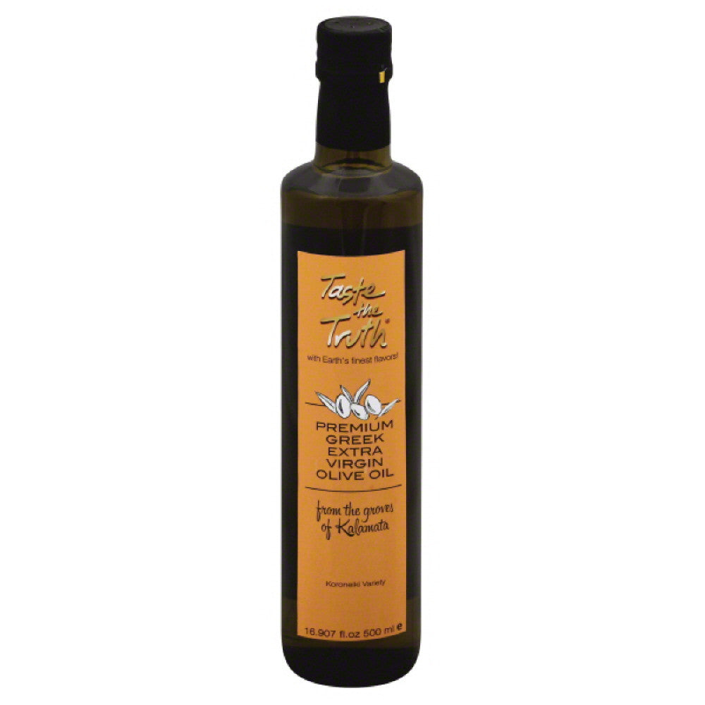 Taste The Truth Greek Extra Virgin Olive Oil from the Groves of Kalamata, 16.9 Fo (Pack of 6)