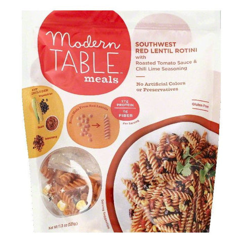 Modern Table Southwest Red Lentil Rotini, 11.3 OZ  ( Pack of  6)