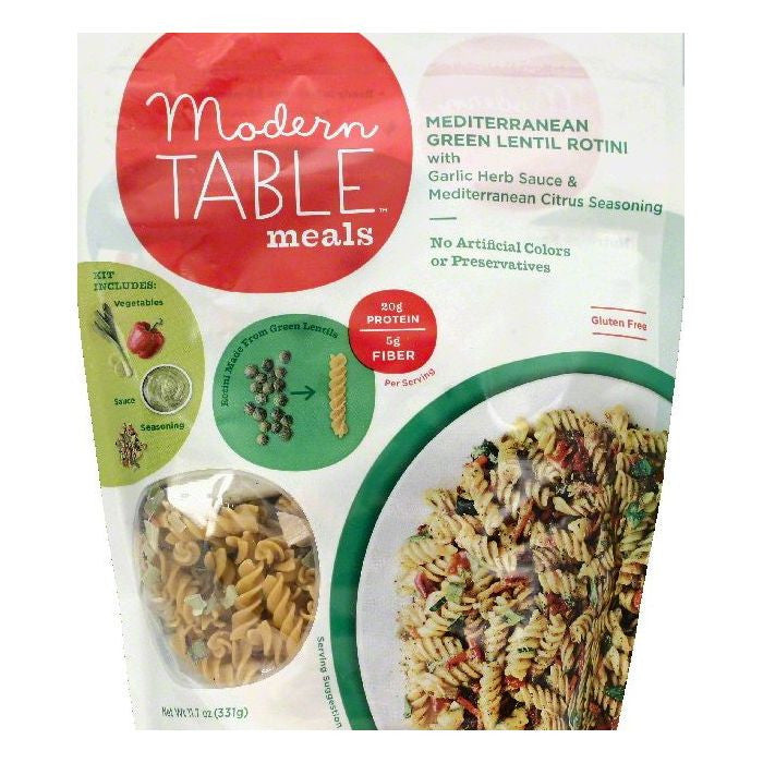 Modern Table Mediterranean Green Lentil Rotini, 11.7 OZ  ( Pack of  6)