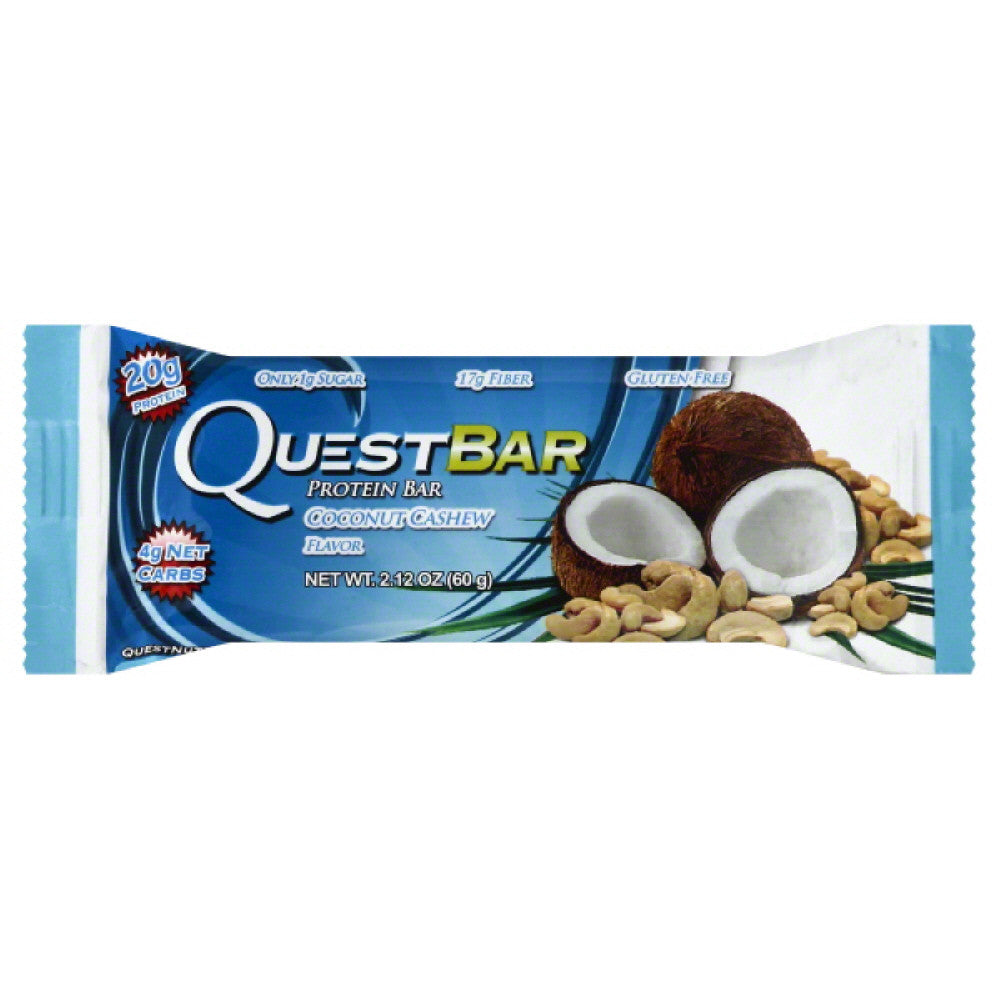 Quest Bar Coconut Cashew Flavor Protein Bar, 2.12 Oz (Pack of 12)