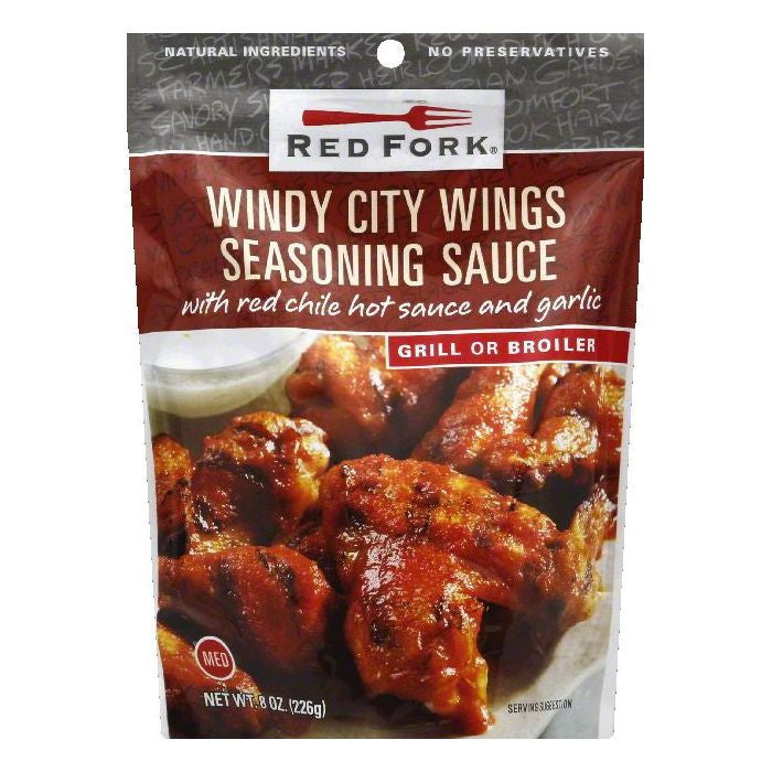 Red Fork Medium Windy City Wings Seasoning Sauce, 8 OZ (Pack of 6)
