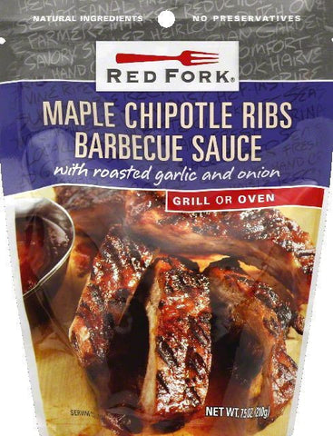 Red Fork Maple Chipotle Ribs Barbecue Sauce, 7.5 OZ (Pack of 6)