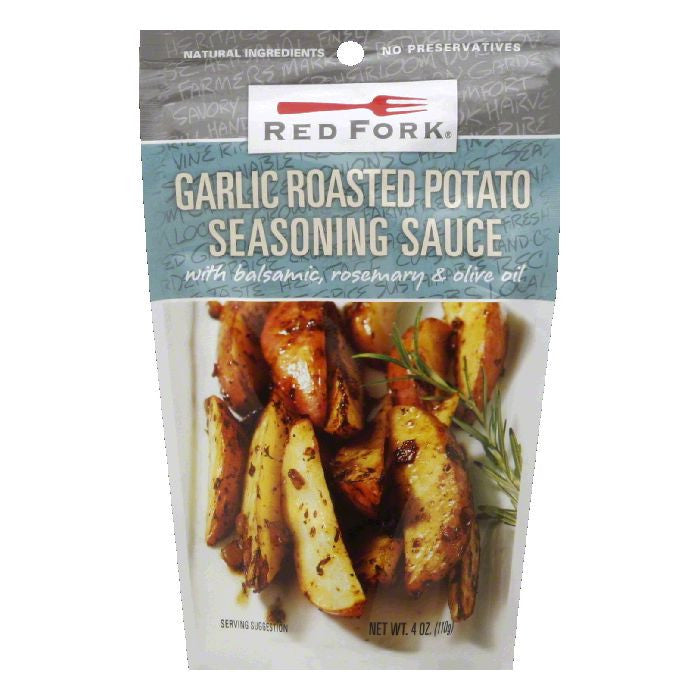 Red Fork Roasted Garlic Potato Seasoning Sauce, 4.5 OZ (Pack of 8)