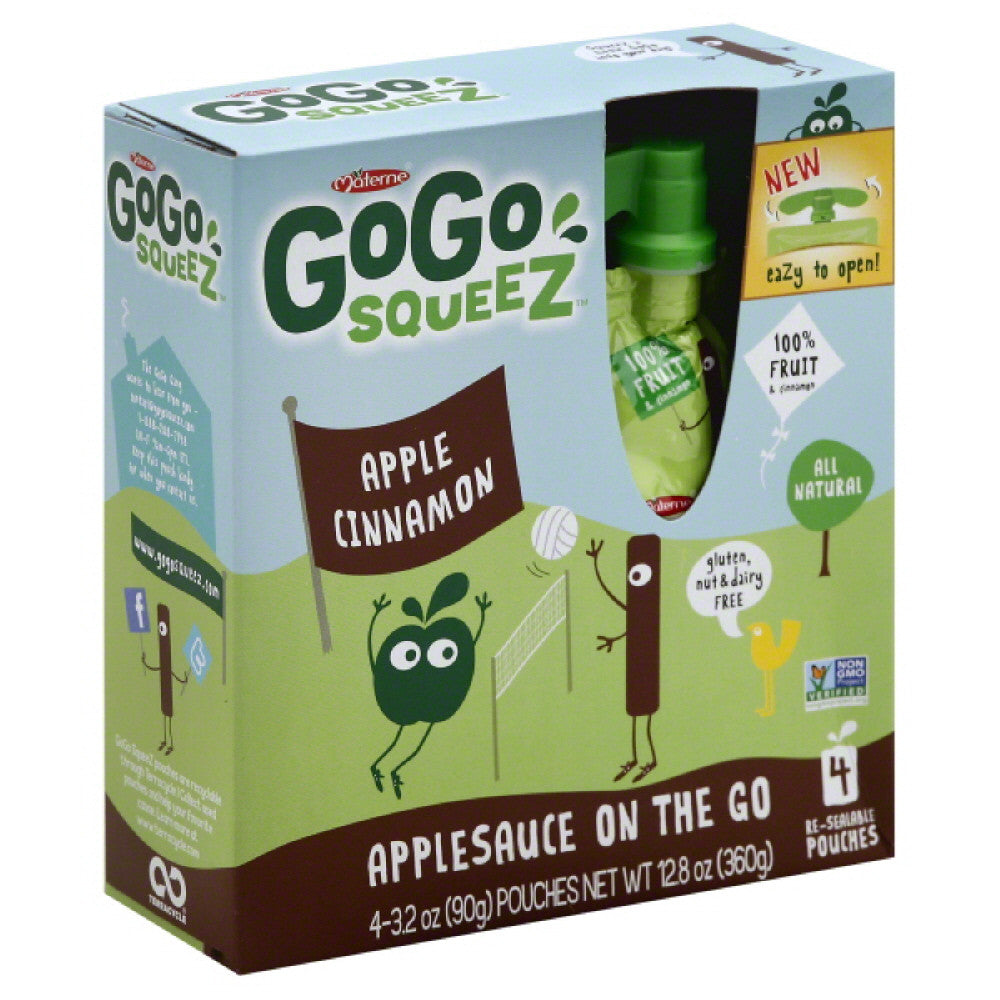 GoGo Squeez Apple Cinnamon Applesauce On the Go, 12.7 Oz (Pack of 12)