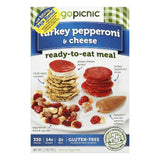 GoPicnic All Natural Gluten Free Turkey Pepperoni & Cheese Ready to Eat Meal, 3 OZ (Pack of 6)
