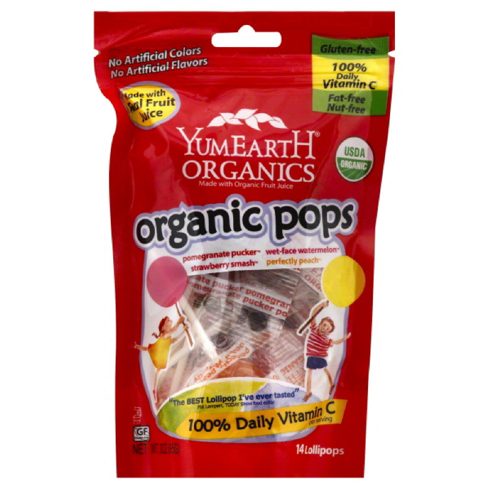 YumEarth Organic Assorted Lollipops, 3 Oz (Pack of 6)