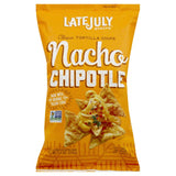 Late July Nacho Chipotle Clasico Tortilla Chips, 5.5 Oz (Pack of 12)