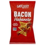 Late July Bacon Habanero Clasico Tortilla Chips, 5.5 Oz (Pack of 12)