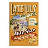 Late July Cheddar Cheese Bite Size Crackers, 5 OZ (Pack of 12)