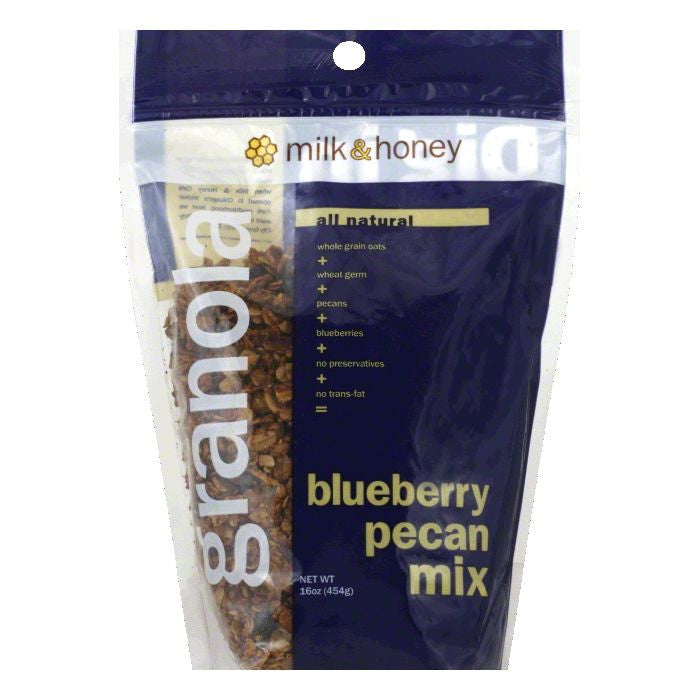 Milk & Honey Blueberry Pecan Granola, 16 OZ (Pack of 6)