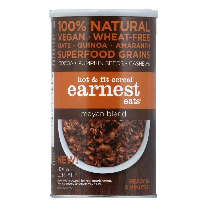 Earnest Eats Mayan Blend Hot & Fit Cereal, 14 OZ (Pack of 6)