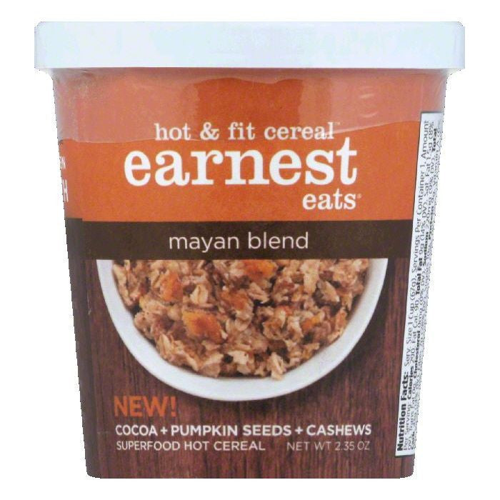 Earnest Eats Mayan Blend Hot & Fit Cereal, 2.35 OZ (Pack of 12)