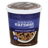 Earnest Eats Superfood Blueberry Chia Hot & Fit Cereal, 2.35 Oz (Pack of 12)