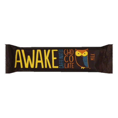 Awake  Milk Chocolate Caffeinated Candy Bar, 1.55 Oz (Pack of 12)