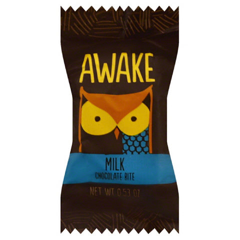 Awake  Milk Chocolate Bite, 0.529 Oz (Pack of 50)