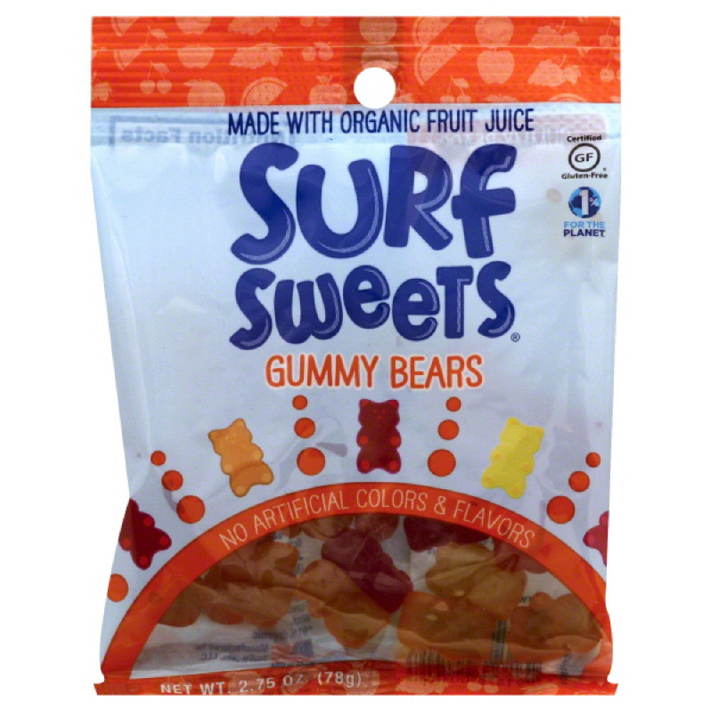 Surf Sweets Gummy Bears, 2.75 Oz (Pack of 12)