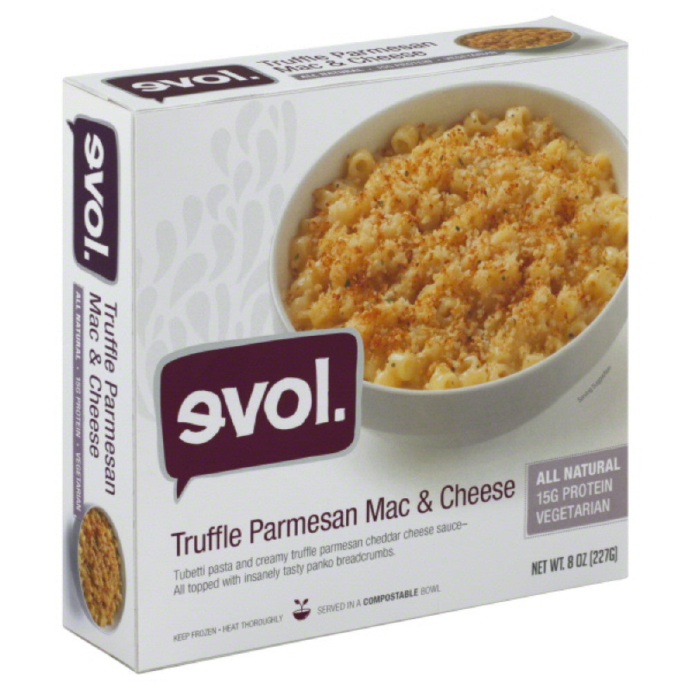 Evol Truffle Parmesan Mac & Cheese, 8 Oz  ( Pack of  8)