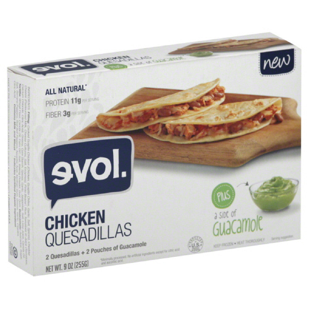 Evol Chicken Quesadillas, 9 Oz (Pack of 8)