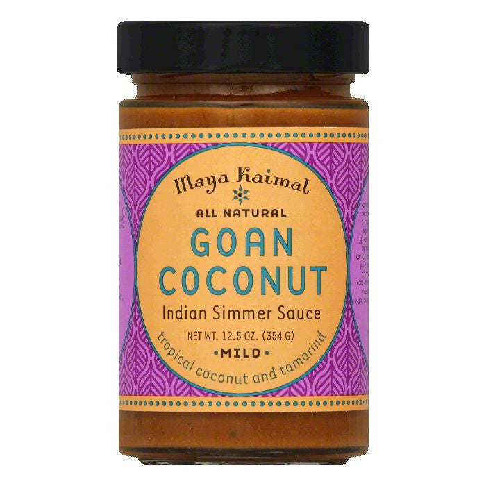 Maya Kaimal Goan Coconut Mild Indian Simmer Sauce, 12.5 Oz (Pack of 6)