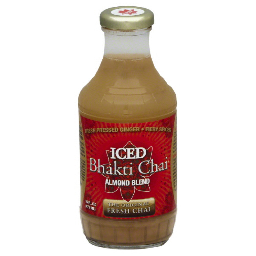 Bhakti Chai Almond Blend Iced Chai, 16 Oz (Pack of 12)