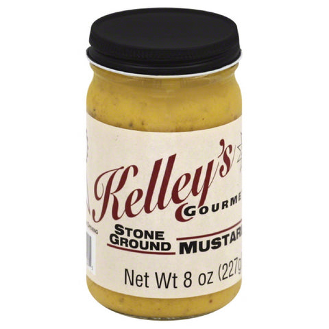 Kelleys Gourmet Stone Ground Mustard, 8 Oz  ( Pack of  6)