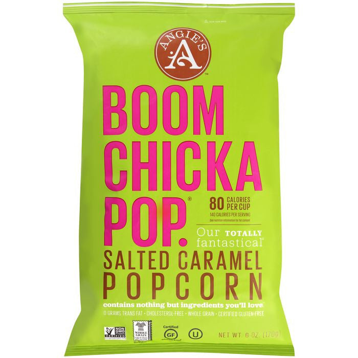Boomchickapop Salted Caramel Popcorn 6 Oz Bag (Pack of 12)