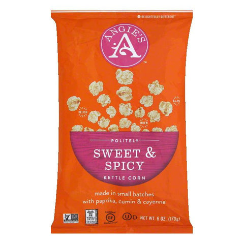 Angies Sweet and Spicy Kettle Corn, 6 OZ (Pack of 12)