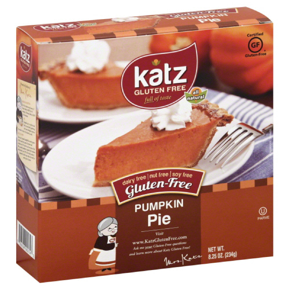 Katz Pumpkin Gluten-Free Pie, 8.25 Oz (Pack of 6)