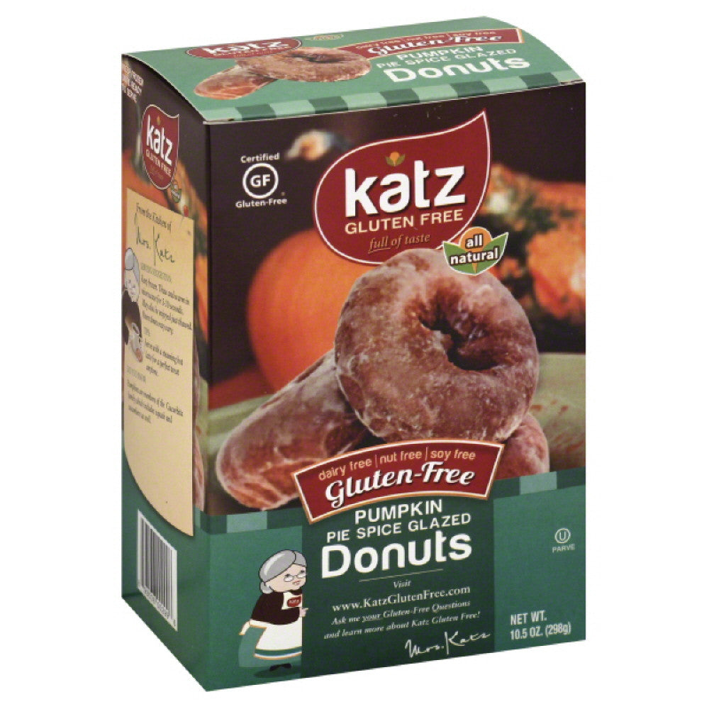 Katz Pumpkin Pie Spice Glazed Gluten-Free Donuts, 10.5 Oz (Pack of 6)