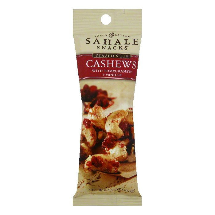 Sahale Snacks Vanilla & Sea Salt Cashews with Pomegranate, 1.5 OZ (Pack of 9)