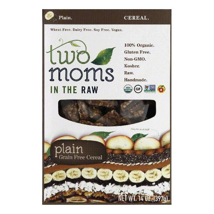 Two Moms in the Raw Plain Grain Free Cereal, 14 Oz (Pack of 6)