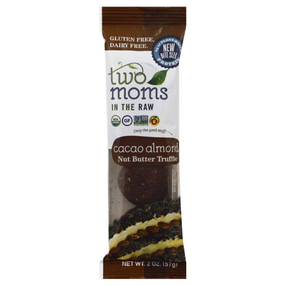 Two Moms in the Raw Cacao Almond Nut Butter Truffle, 2 Oz (Pack of 6)
