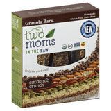 Two Moms in the Raw Cacao Nib Crunch Granola Bars, 6 Oz (Pack of 6)