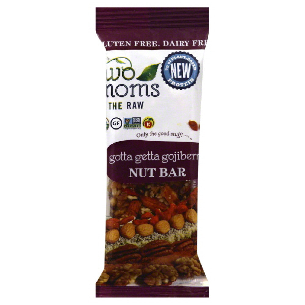 Two Moms in the Raw Gotta Getta Gojiberry Nut Bar, 1.5 Oz  ( Pack of  12)