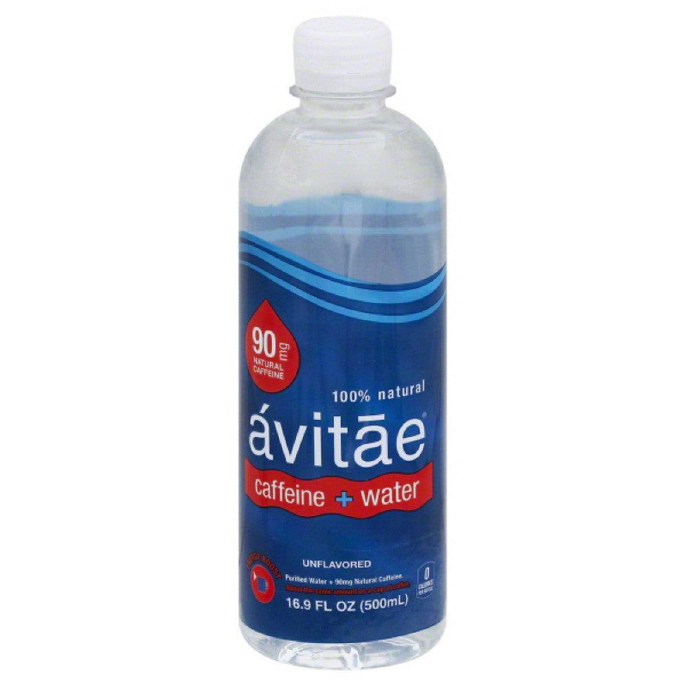 Avitae Unflavored 90 mg Caffeine + Water, 16.9 Fo (Pack of 12)