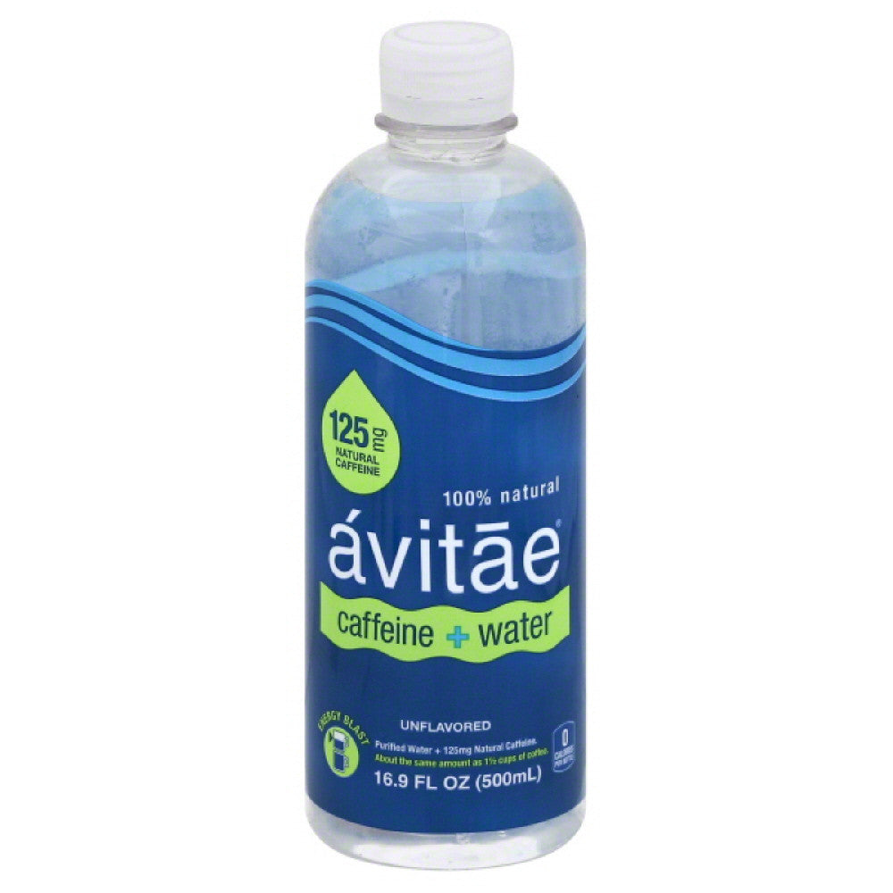 Avitae Unflavored 125 mg Caffeine + Water, 16.9 Fo (Pack of 12)