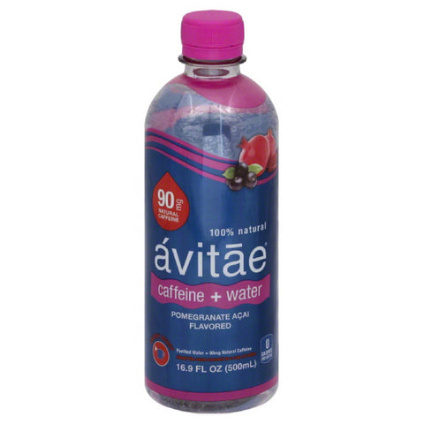 Avitae Pomegranate Acai Flavored Caffeine + Water, 16.9 Fo (Pack of 12)