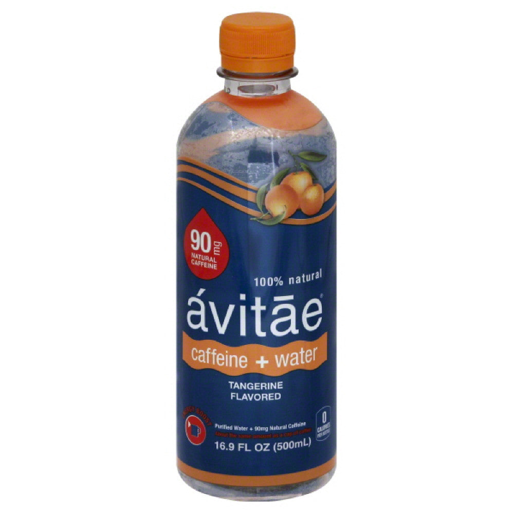 Avitae Tangerine Flavored Caffeine + Water, 16.9 Fo (Pack of 12)
