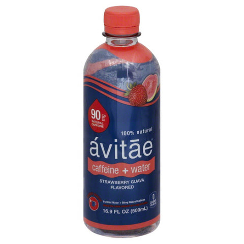 Avitae Strawberry Guava Flavored Caffeine + Water, 16.9 Fo (Pack of 12)