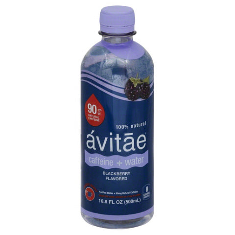 Avitae Blackberry Flavored Caffeine + Water, 16.9 Fo (Pack of 12)