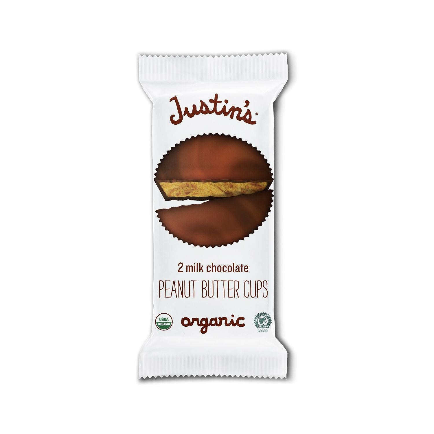 Justin's Milk Chocolate Organic Peanut Butter Cups, 1.4 Oz (Pack of 12)