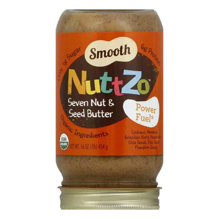 NuttZo Smooth Seven Nut & Seed Butter, 16 Oz (Pack of 6)